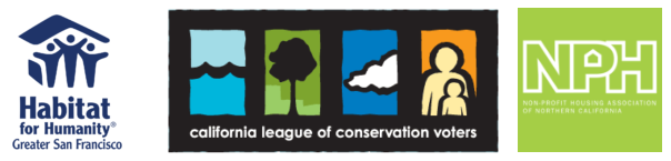 Habitat for Humanity, California League of Conservation Voters, and NPH logos