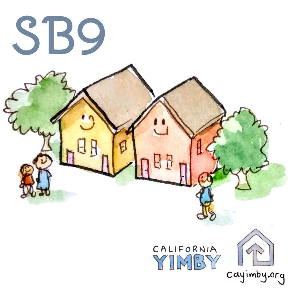 A graphic explaining SB 9